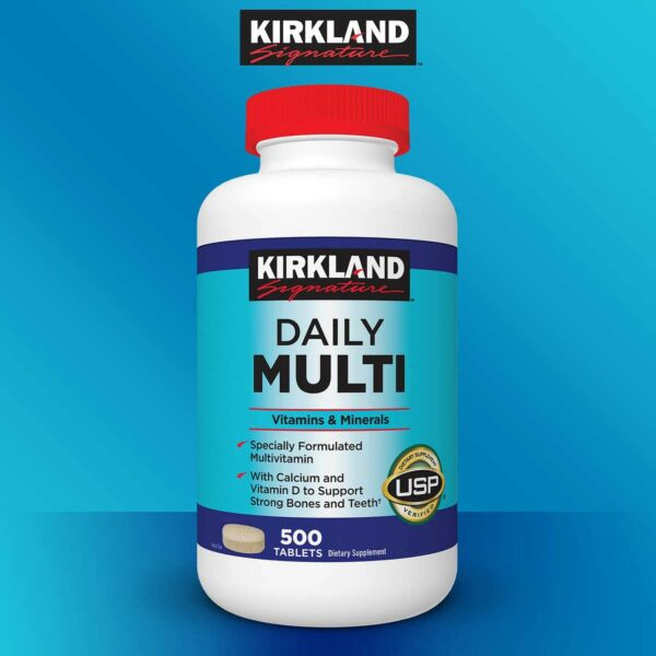 Kirkland Signature Daily Multi, 500 Tablets, Multivitamin
