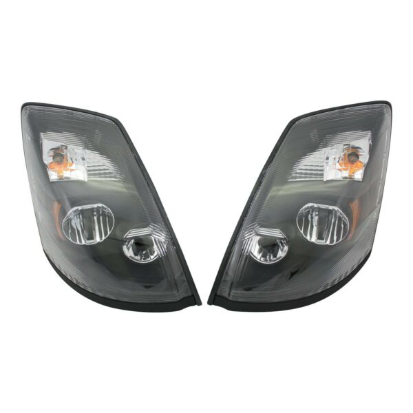 Volvo VNL LED Headlights Pair Black VNM VNX DOT SAE 82329124 82329127