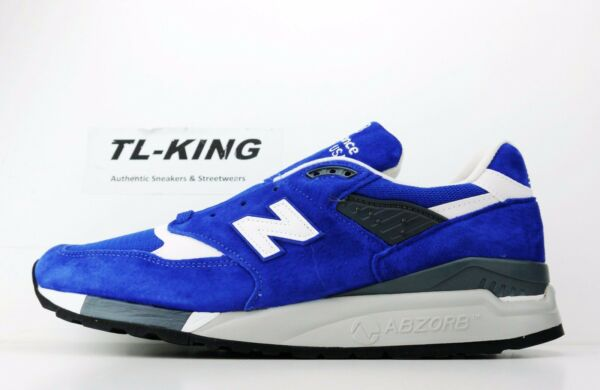 New Balance M998CBU Blue White Made in USA Classic Sneaker Msrp $180 BW