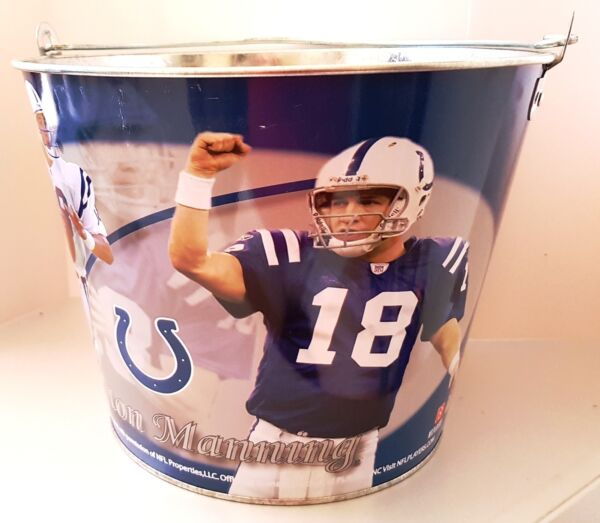 ICE BUCKET - NFL Colts PEYTON MANNING - Party Drink BEER Bottle Holder Pail
