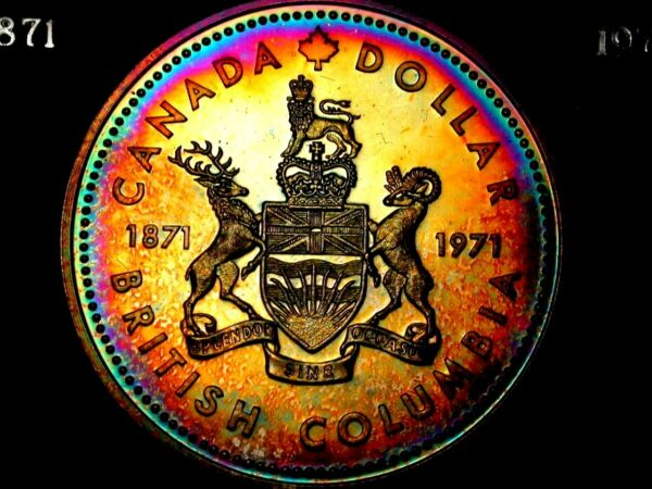 Astonishing Magnificent Flawless Neon 1971 Canada RCMP Commem Silver $1 PRIVATE