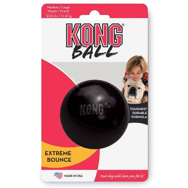 Extreme Ball Dog Toy Extra Durable Puncture Resistant Black Rubber 3