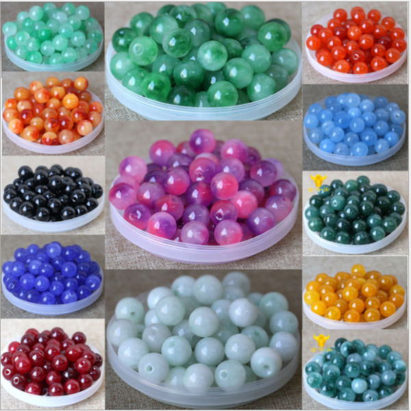 4mm 6mm 8mm 10mm 12mm Natural Quartz Gemstone Round Spacer Stone Loose Beads DIY