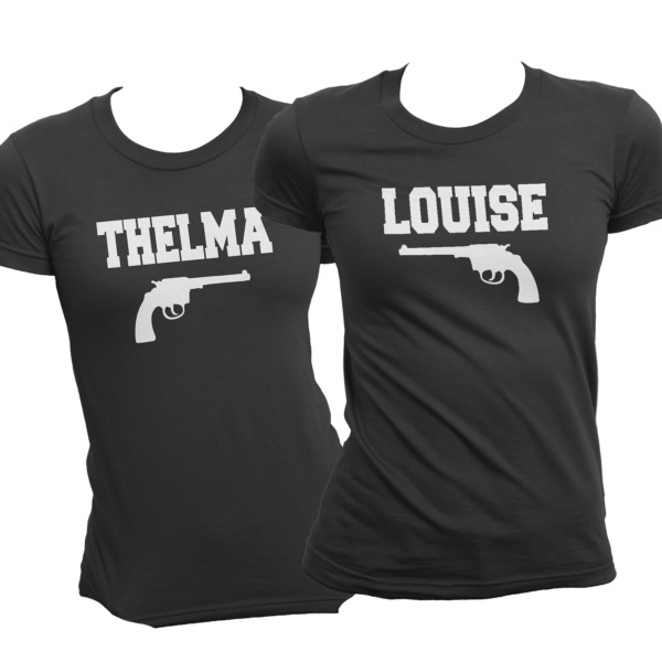 Thelma And Louise Matching Best Friend T-Shirts High Quality Soft Black Cotton