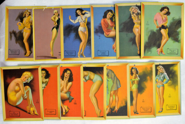 Earl Moran 13 Mutoscope Pinup Cards Original Prints