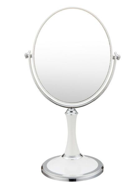Double Sided Swivel Vanity Mirror with 3 x MagnificationTabletop Makeup Mirror