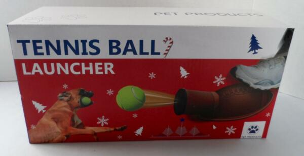 NEW Tennis Ball LAUNCHER Football Shaped Foot Pump Expells with Ball DOG PLAY