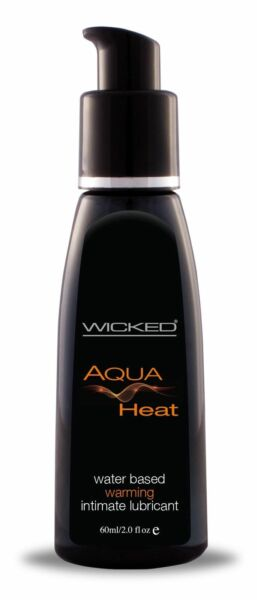 Wicked Aqua Heat Water Based Warming Lubricant 2oz Lube $12.70
