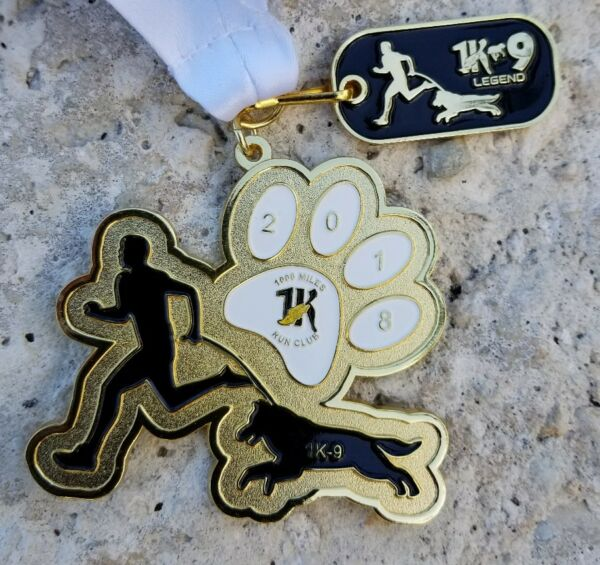 RUN WITH YOUR DOG FINISHERS MEDAL - K9 - BEST FRIEND - Pooch $8.00