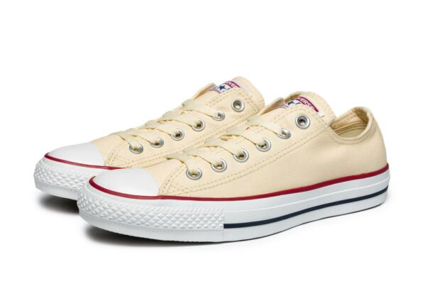 Converse Unisex All Star OX Shoes NEW AUTHENTIC Natural White M9165-100