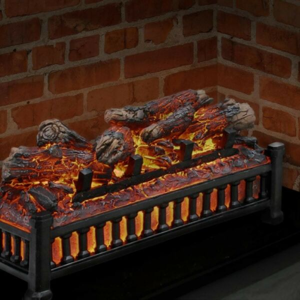 Electric Masonry Fireplace Insert Fake Artificial Logs L-24 Pleasant Hearth