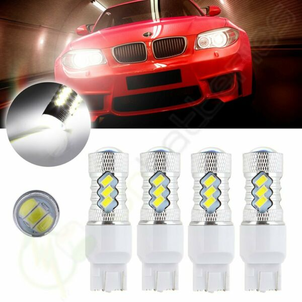4x New Xenon Cree LED 15 5730 SMD 6000K 7443 7440 Reverse Light 60W 6000LM HID