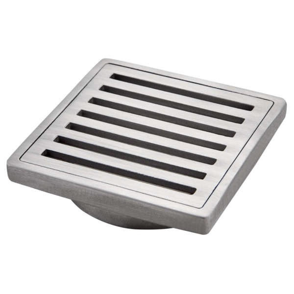 Kinetic SQUARE SLOTTED FLOOR GRATE Stainless Steel- 60x60mm Or 110x110mm