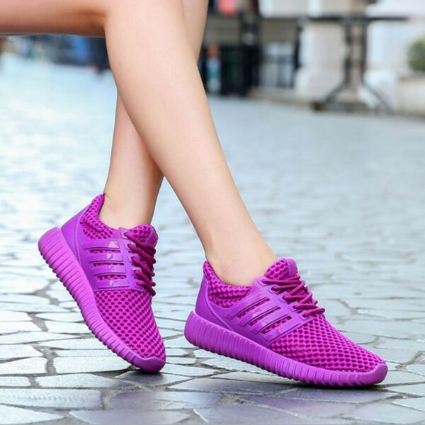 Women's Mesh Breathable Sport Casual Shoes Outdoor Athletic Running Sneakers Hot