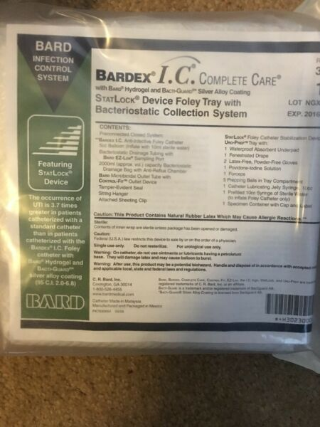 Bardex I.C. Complete Care with Bard Hydrogel amp; Bacti Guard Silver Alloy Coating.