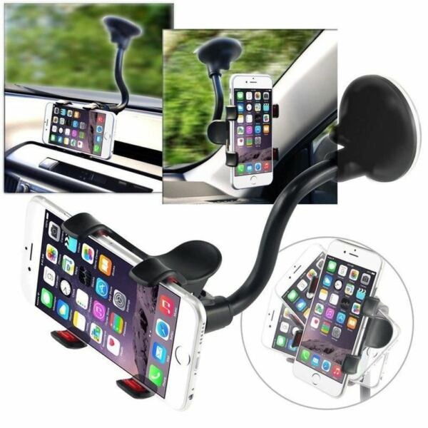 Universal Car Windshield Rotating Phone Holder Mount Stand For GPS iPhone 7 Plus
