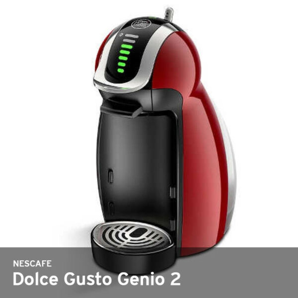 Nescafe Dolce Gusto Genio 2 Auto-Off 220V 1Liter 15Bar 2.7Kg Free UPS  Wine Red