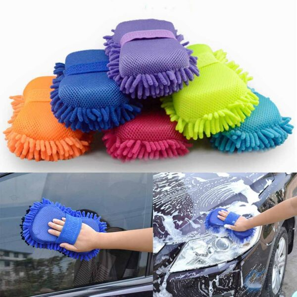 New Auto Car Microfiber Chenille Cleaner Clean Accessories Sponge Washing Brush
