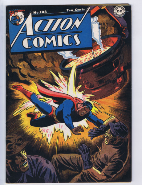 Action Comics #108 DC Pub 1947 Mitchell Moran copy
