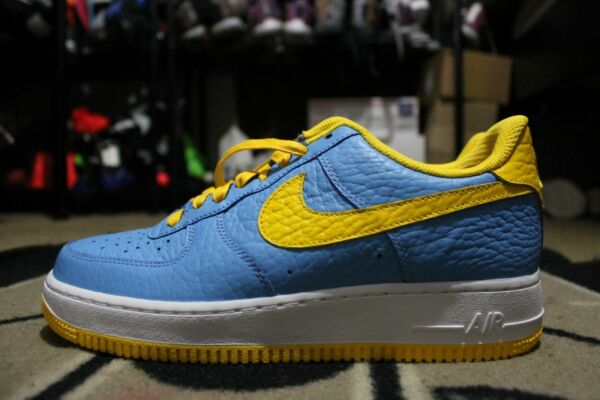 New Nike iD Air Force One 1 Low NBA Denver Nuggets Size 9.5 Blue/Yellow