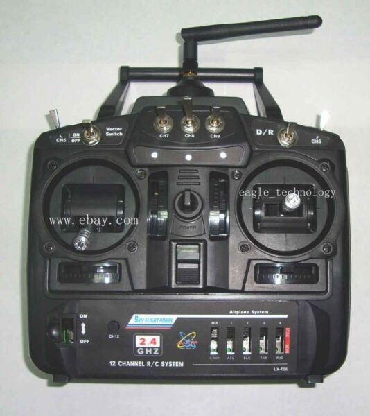 12 Channel Radio transmitter with receiver, used for rc plane or drone