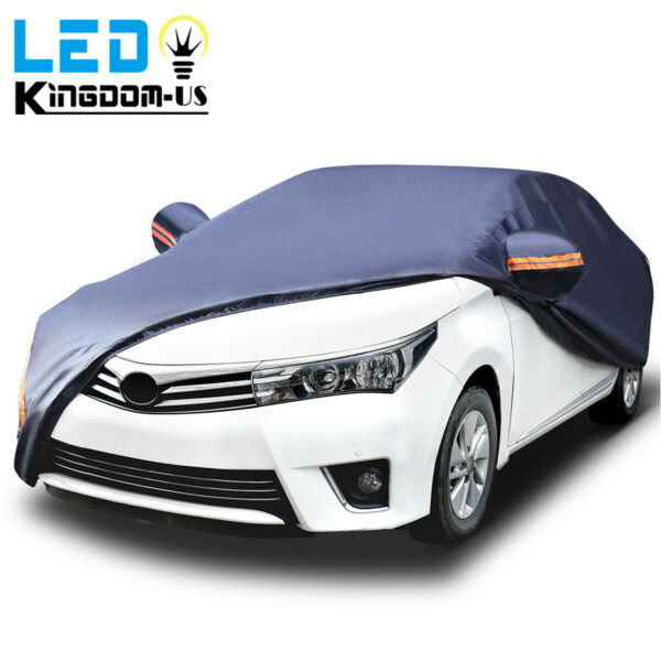 Full Car Cover Waterproof Outdoor Sun UV Snow Dust Rain Resistant Protection