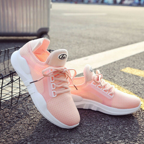 Breathable Sneakers Women's Outdoor Running Sport Casual Athletic Shoes Lace Up
