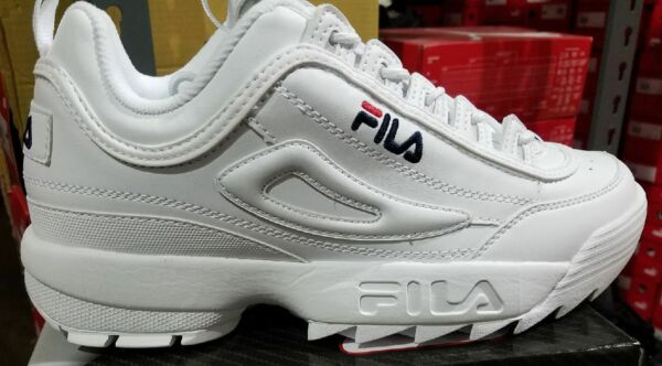 Fila Disruptor II 2 White Navy Red Mens Sneakers Shoes FW01655-111