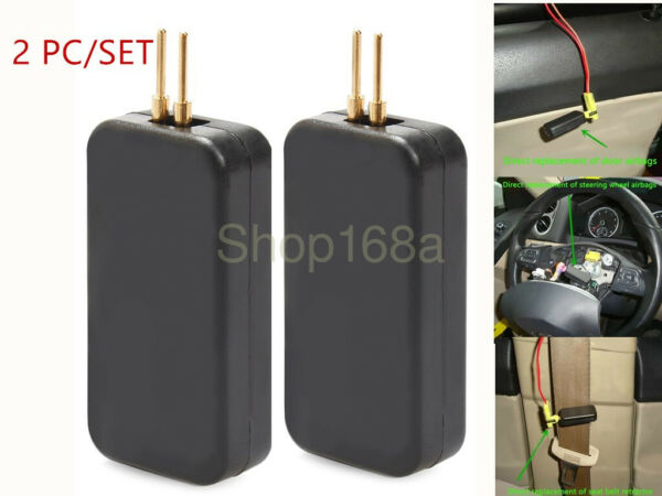 Car SRS Airbag Simulator Emulator Resistor Bypass Fault Finding Diagnostic 2Pc
