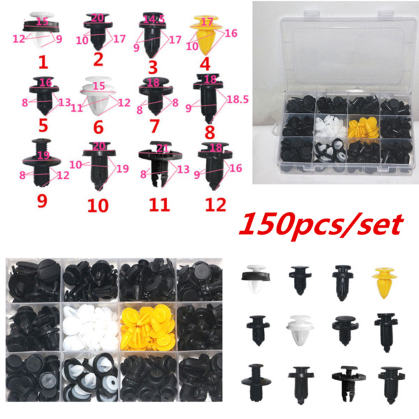 150pcsset Car Truck Door Panels Bumper Cover Fender Fasteners Clips Boxed Kits
