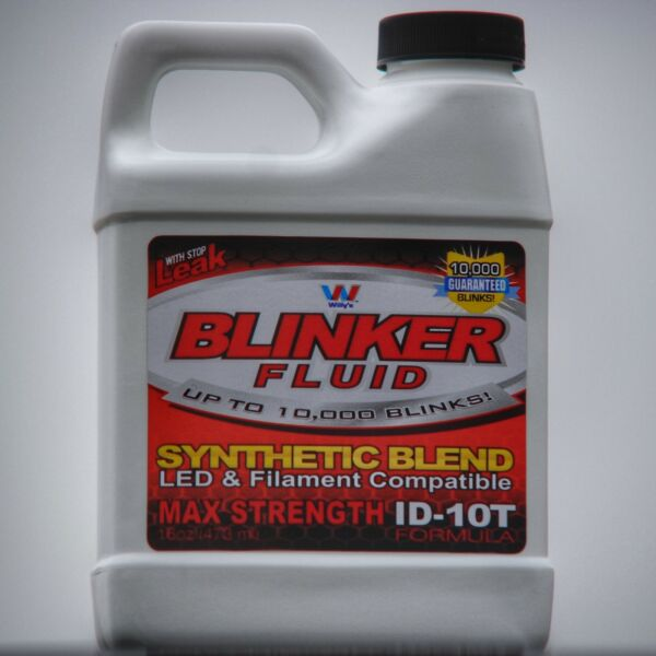 Blinker Fluid Gag Gift Bottle