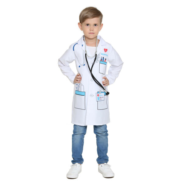 Boys amp;Girls Scientist Doctor White Lab Coat Costume Super Soft for Kids $12.98