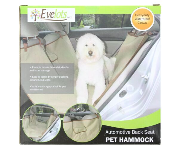 Dog Seat Cover Waterproof Rear Universal Seat Protector Pets Heavy Duty Canvas $17.99