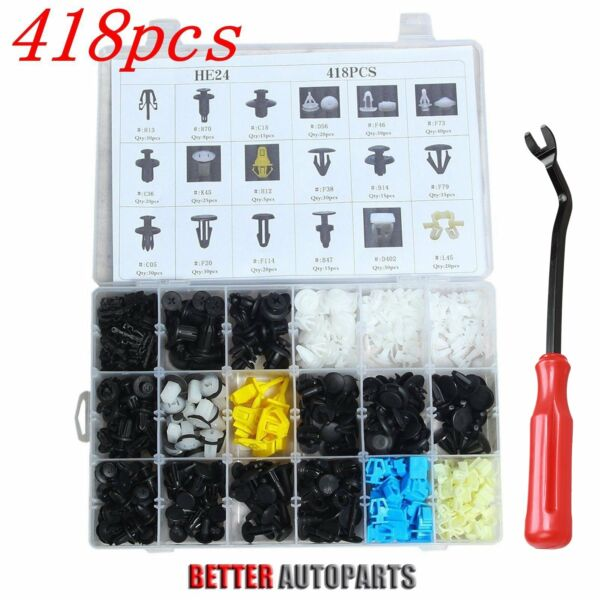 418 Clip & Tool Trim Panel Bumper Fender Retainer Assortment Fix Kit For Honda