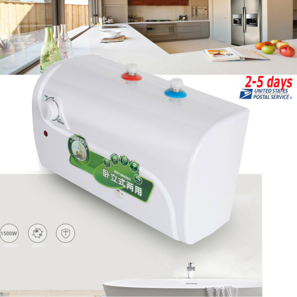 8L tank Electric Hot Water Heater Household Bathroom Kitchen 30℃~65℃ USA Stock