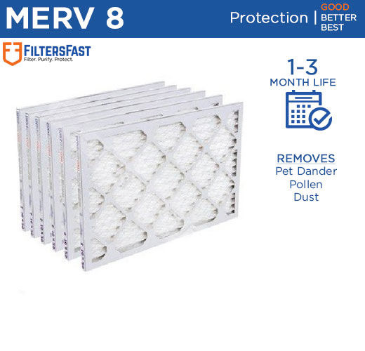 Filters Fast 1quot; Home Air Filters Merv 8 Case of 6 Filters 6 18 Month Supply $31.99