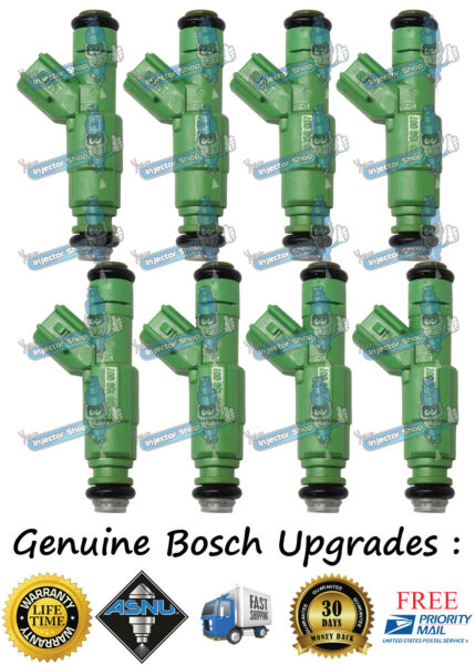 Bosch Upgrade 4 Hole Nozzle Ford Lincoln 8x Fuel Injectors 2005 2007 5.4L