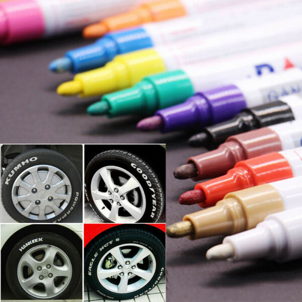 Color Paint Pen Marker Waterproof Permanent Car Tire Lettering Rubber Letter Lot