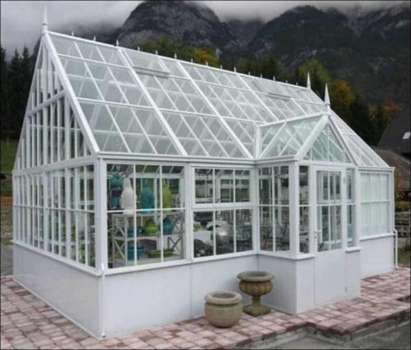 VICTORIAN STYLE ESTATE EXTERIOR CUSTOM MADE GAZEBO - GREENHOUSE - HES6
