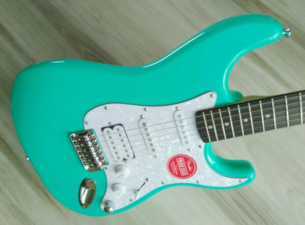 Fender  Stratocaster Guitar TurboCharged w/ Blender MOD Seafoam Squire Strat NEW