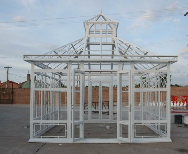 TUBULAR ESTATE HAND MADE CUSTOM IRON GAZEBO SOLARIUM GREENHOUSE #LC9