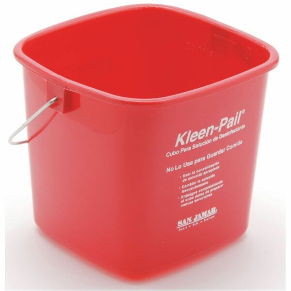 Kleen-Pail Utility Bucket Is 3qt Red For Sanitizing 71945