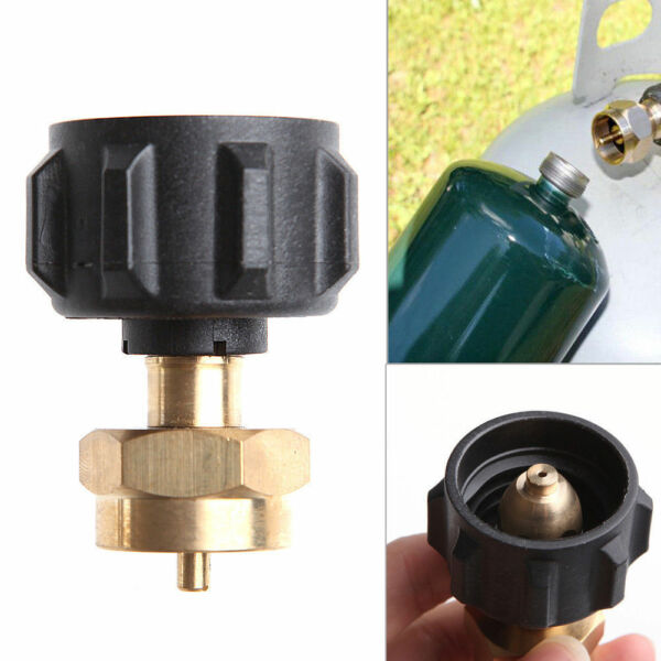 1 LB Tank Propane Gas QCC1 Regulator Valve Refill Adapter Outdoor BBQ Kit