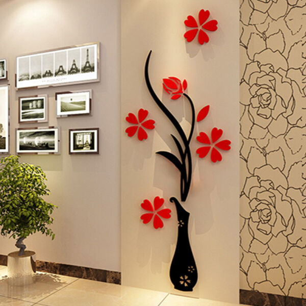 Flower Decal Vinyl Decor Art Home Room Removable Mural Wall Stickers DIY KZY