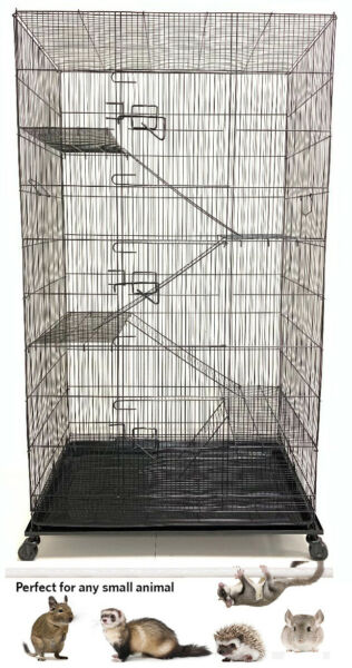 X Large 5 Levels Ferret Squirrel Guinea Pig Sugar Glider Rats Mice Critter Cage