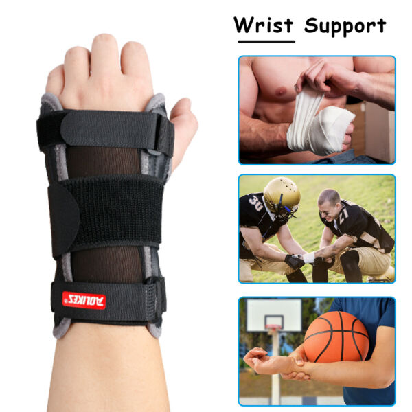Right  Left Wrist Hand Brace Support Carpal Tunnel Sprain Arthritis Gym Sports