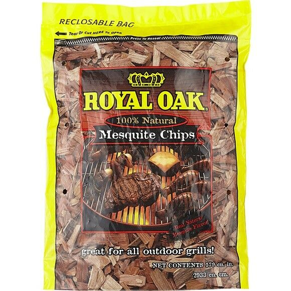 Royal Oak Wood Chips BBQ Meat Grill Smoking Mesquite Hickory FREE FAST SHIPPING
