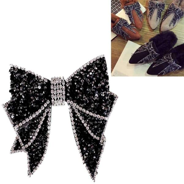 1Pair Vintage Style Rhinestone Crystal Bow-knot Shoes Clips Decoration DIY Nice