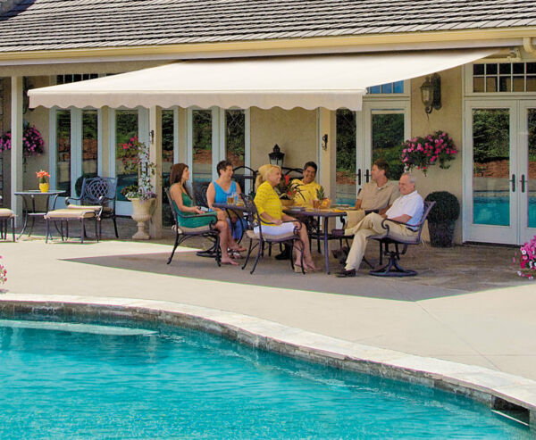 SunSetter Retractable Awning Motorized XL 18 ft. Acrylic Fabric Deck