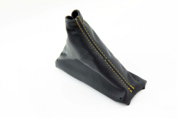 Corvette C4 Automatic Shift Boot Synthetic leather Black Yellow Stitch For 84-89